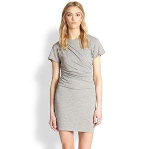 Theory 38 Women's Gray Tucky Pima Cotton Dress